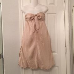 Max & Cleo dress Strapless, back zipper, bubble bottom dress.   100% silk, fully lined, excellent condition. Max & Cleo Dresses