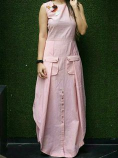 Dresses - New Rayon Pink Ice Cream Embroidered Kurti Western Kurtis Design, Kurta Designs, Blouse Designs, Stylish Dresses, Casual Dresses, Hijab Fashion, Fashion Dresses, Dresses Short, Mode Hijab