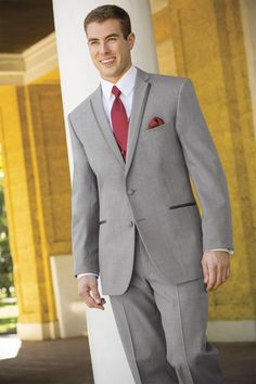 For a polished look, the Heather Grey Aspen tuxedo is a stylish choice. Tailored in worsted wool with a slim fit styling, the Heather Grey Aspen's. Grey Tux Wedding, Wedding Men, Wedding Suits, Wedding Ideas, Wedding Colors, Wedding Tuxedos, Wedding Attire, Wedding Things, Diy Wedding