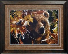 Legend of The Fall by Collin Bogle ~ Wholesale Framed Art North American Art Brown Bear, American Art, Framed Art Prints, Wildlife, Autumn, Fall, Painting, Animals, Animales
