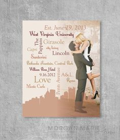 Personalized Typographic Wordle Image Wedding by MorganMarieMakes, $20.00