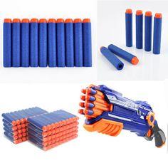 2017 100 pcs /set new Nerf N-strike Elite Rampage Retaliator Series Blasters Refill Clip Darts toy gun soft nerf bullet