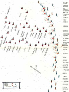Map of the Battle of Trafalgar