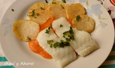 Bacalao confitado en salsa de pimientos rojos
