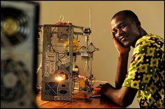 Un inventor africano fabrica la primera impresora 3D a partir de desechos electrónicos (vídeo) http://www.print3dworld.es/2013/10/un-inventor-africano-fabrica-la-primera-impresora-3d-a-partir-de-desechos-electronicos-video.html