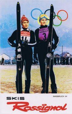 Olympic poster from 1964 Innsbruck Games Innsbruck, Youth Olympic Games, Vintage Ski Posters, The Sporting Life, Ski Bunnies, Ski Mountain, Ski Equipment, Ski Racing, 1980s