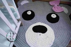 Bärenteppich, Baerenteppich, häkeln, Häkelanleitung, crochet, kostenlos, Anleitung kostenlos, Textilgarn