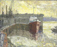 Tom Fairs, A.R.C.A., N.E.A.C. (1925-2007)Greenwich dock; and Low tide, Greenwich