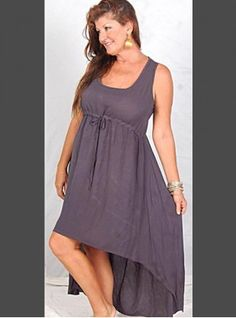 PRE-ORDER - Hi Lo Mini Maxi Empire Dress (Grey)