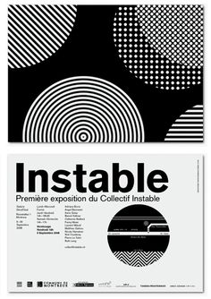 Designspiration — poster for an exhibition by the unstable collective