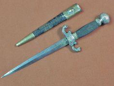 US British English 19 Century Naval Navy Dirk Dagger Fighting Knife w/ Scabbard