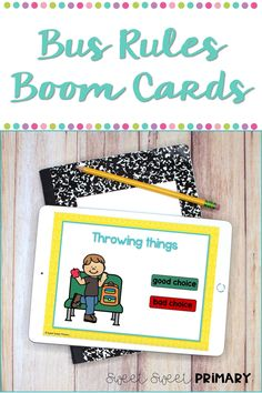 Oh my gosh! These bus rules Boom cards are perfect for teaching or reviewing which bus behaviors are good choices and which are not so good choices. These make great centers or whole group SEL lessons. Student Behavior, Classroom Behavior, First Grade Classroom, Kindergarten Classroom, Mindful Classroom, Read Aloud Books, Social Studies Resources, Teacher Notes, Beginning Of The School Year