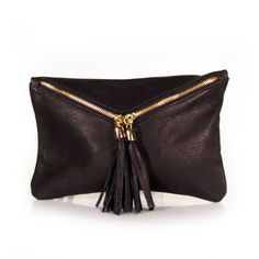 Tracce Leather Milan Envelope Clutch