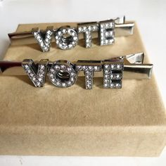 Excited to share this item from my #etsy shop: Vote hair clip for women, vote hair clips, 2020 election item, political hair clip, vote pins, hair accessories, hair barrettes #silver #rhinestonehairclip #politicalvoteclip #votegift #votehairclip #silvercustomclip #voteitem #customisedhairclip #personalisedhaircl Summer Accessories, Hair Accessories For Women, Ear Headbands, Hair Barrettes, Beachy Blonde Hair, Thin Hair Haircuts, Barrette Clip, Hair Slide, One Hair