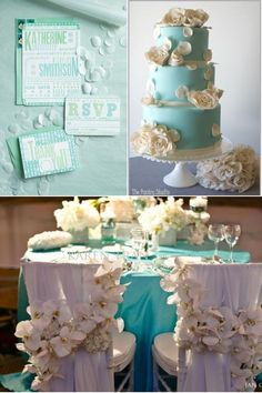 tiffany blue and cream wedding ideas