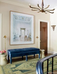 Chic Manhattan Townhouse tour from Timothy Whealon Design. Chic foyer!