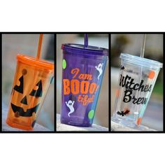 Halloween Tumbler ~ Pumkin ~ Ghost ~ Witch - pinned by pin4etsy.com