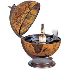 "Zoffoli ""Sfera 42"" Desk Bar Globe - Ebony"