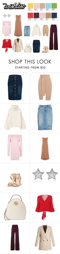 """""""Spring PANTONE palette in my wishlist"""" by karkarych ❤ liked on Polyvore featuring MANGO, BLANKNYC, Boohoo, TIBI, Alexandre Birman, CZ by Kenneth Jay Lane, Gucci, Red Herring, Theory and Blazé Milano"""