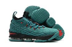 huge selection of 52b42 c7b68 Official 2018 New Style Nike LeBron 15 Aqua Green Red Black Mens Basketball  Shoes Sneakers - Click Image to Close