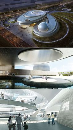 Architecture to the stars for the new Shanghai Planetarium - . - Architecture to the stars for the new Shanghai Planetarium – - Planetarium Architecture, Museum Architecture, Organic Architecture, Futuristic Architecture, Amazing Architecture, Contemporary Architecture, Landscape Architecture, Architecture Design, China Architecture