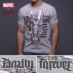 69c83b7a6 Family / Forever - Gray Short Sleeve Men's Crew Neck T-Shirt (Guardians of