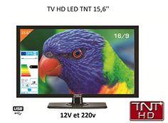 Télévision TV HD LED 39,6 CM pour camping car 220v/12v/24v: Tv led pour camping car , caravane bateau ou camion longueur d ecran : 40cm…