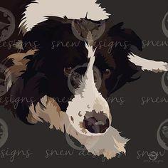 snewdesigns | Collie 2 | Digital Mans Best Friend, Best Friends, Dog Portraits, Collie, Cow, Digital, Artwork, Animals, Beat Friends