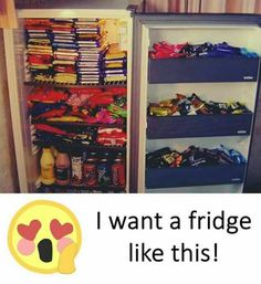 My dream Fridge. Chocolate Love Quotes, Chocolate Humor, Chocolate World, I Love Chocolate, Chocolate Lovers, Funny Facts, Weird Facts, Funny Memes, Stupid Memes
