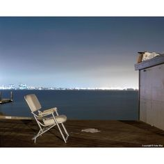 """Contemporary Night Photograph """"Padded Chair"""" by John Vias Mixed Dining Chairs, Dining Room Chair Cushions, Dining Room Table Chairs, Dining Chair Slipcovers, Modern Dining Chairs, Comfortable Accent Chairs, Small Accent Chairs, Accent Chairs For Living Room, Leather Chair With Ottoman"""