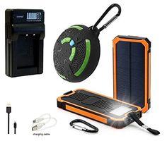 LOOKit Ladegerät für BLG10 Akkus+ LOOKit Powerbank 8000mAh inkl. Taschenlampe + LOOKit Bluetooth Lautsprecher für Panasonic Lumix DMC TZ101 TZ81 GX80 - http://kameras-kaufen.de/unbekannt/outdoor-pack-2-lookit-premiumakku-blg10-64gb-sdhc