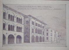 Progetto di casa del littorio attuale palazzo comunale di for Disegno della casa di architettura