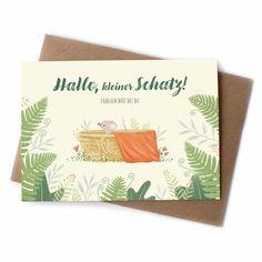 Die Karte mit der kleinen Maus ist entzückend illustriert und ein schöner Begleiter für ein Geschenk zur Geburt. Ein passender Briefumschlag wird mitgeliefert.  #grußkarte #postkarte #geburt #babygeschenke #meinkleinesich