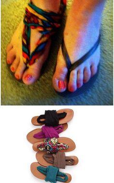 @Brittany Helms Victoria Secret DIY flip flops!