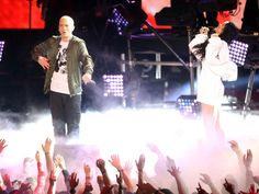"""Pin for Later: Can't-Miss Moments From the MTV Movie Awards Eminem and Rihanna heated up the stage with their performance of """"The Monster."""""""