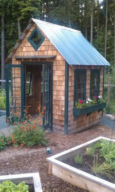 this is what a shed can be. charming and useful