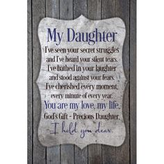 Remember what a gift children are when you read the sweet prayer on this attractive plaque. The plaque is easel-backed to display on a table or mantelpiece. This inspirational art piece is individuall Prayer For My Son, Prayer For My Children, Mother Daughter Quotes, To My Daughter, Daughters, Wood Plaques, Motivational Words, How To Distress Wood, Wood Wall Art