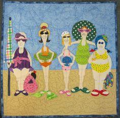 Amy Bradley bathing beauty quilt-must finish mine! Applique Patterns, Applique Quilts, Applique Designs, Quilt Patterns, Quilting Projects, Quilting Designs, Sewing Projects, Colchas Quilt, Quilt Blocks