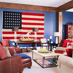 Patriotic room  From bhg.com