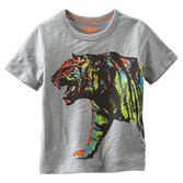 He's earned his stripes with this neon tiger. Pair it with cargos for adventurous style.<br>