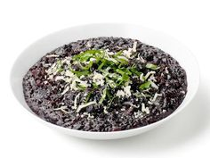 Get Black Rice Risotto Recipe from Food Network