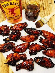 Fireball Whiskey Chicken Wings - Cooks Well With Others chicken wings recipe Cooking Chicken Wings, Smoked Chicken Wings, Glazed Chicken, Thai Chicken, Sriracha Chicken, Smoked Wings, Grilled Chicken Wings, Chicken Meals, Grilled Chicken Recipes