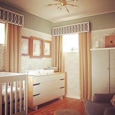 Top 10 Nursery Design Trends of 2015 | Looking for a unisex nursery design? Whites, beiges, and grays are big, and gender neutral.