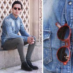 Giantvintage Sunglasses, Zara Denim Shirt #fashion #mensfashion #menswear #mensstyle #streetstyle #style #outfit #ootd