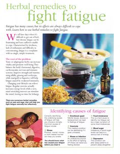 Herbs:  #Herbal Remedies to Fight Fatigue.