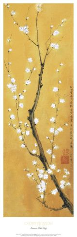 Cherry blossoms, another beautiful and graceful Asian symbol. Might be lovely to incorporate in to my website visuals!!!!!!    Cherry Blossom Art Print