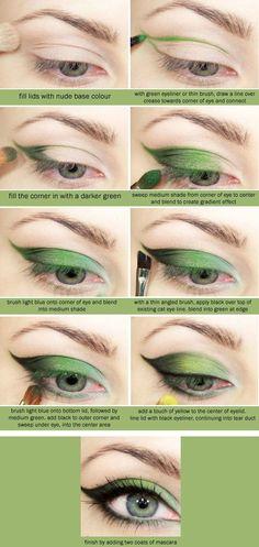 eyesmake up in different colors. #boyvogue #fashion #womensfashion