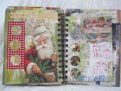 Santa - collage journal
