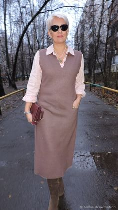 Warm sundress in style Stylish Work Outfits, Business Casual Outfits, Simple Outfits, Classy Outfits, Stylish Outfits, Denim Fashion, Skirt Fashion, Fashion Dresses, Womens Fashion