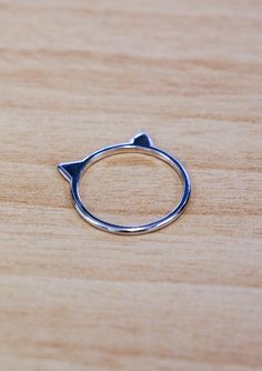 Cats ears ring silver - Under $20 Stocking Stuffers - Onceit